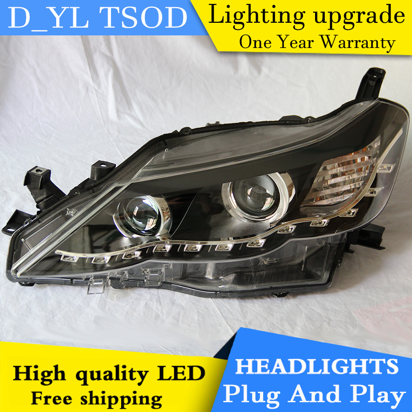 Car styling for Toyota Reiz LED Headlights 2010 2013 Headlamp assembly Turn lights DRL lens H7