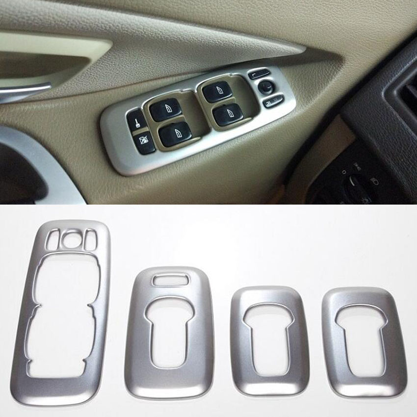 For Volvo XC90 2002 2014 Car Interior Door Armrest Window Lift Switch Buttons Cover Trim Decoration