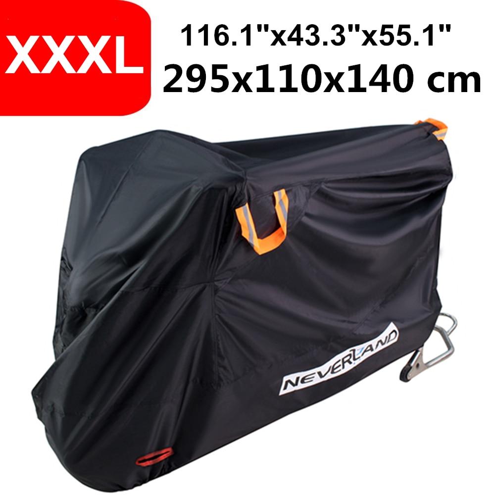 XL 210D Motorcycle Cover Motor Bike Touring Waterproof Outdoor Rain UV Protector