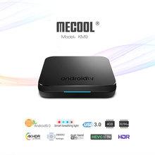 2019 New MECOOL KM9 Android 9.0 TV Box 10PCS Amlogic S905X2 Quad Core 4G DDR4 32