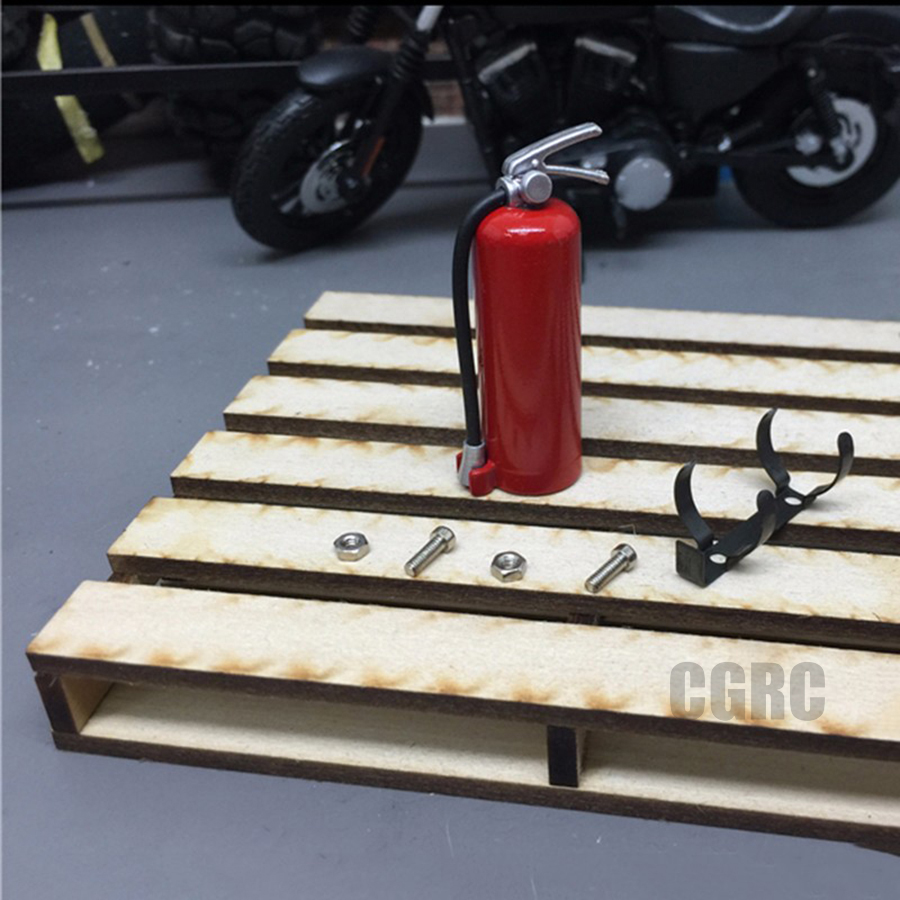 RC Crawler Car 1:10 Accessories Fire Extinguisher for Axial Wraith SCX10 90046 TAMIYA CC01 RC4WD D90 D110 RC Truck Car Parts Red
