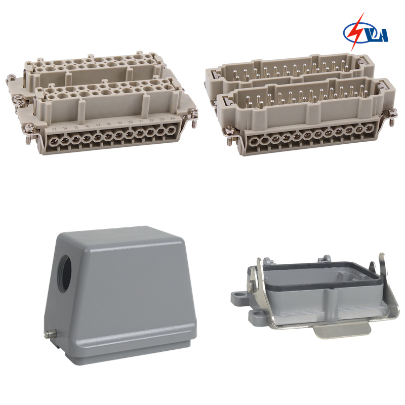 HE-048 500V China Price Heavy Duty Connector A Whole set 16A heavy duty connectors hdc hee 018 1 f m 18pin 16a industrial rectangular aviation connector plug