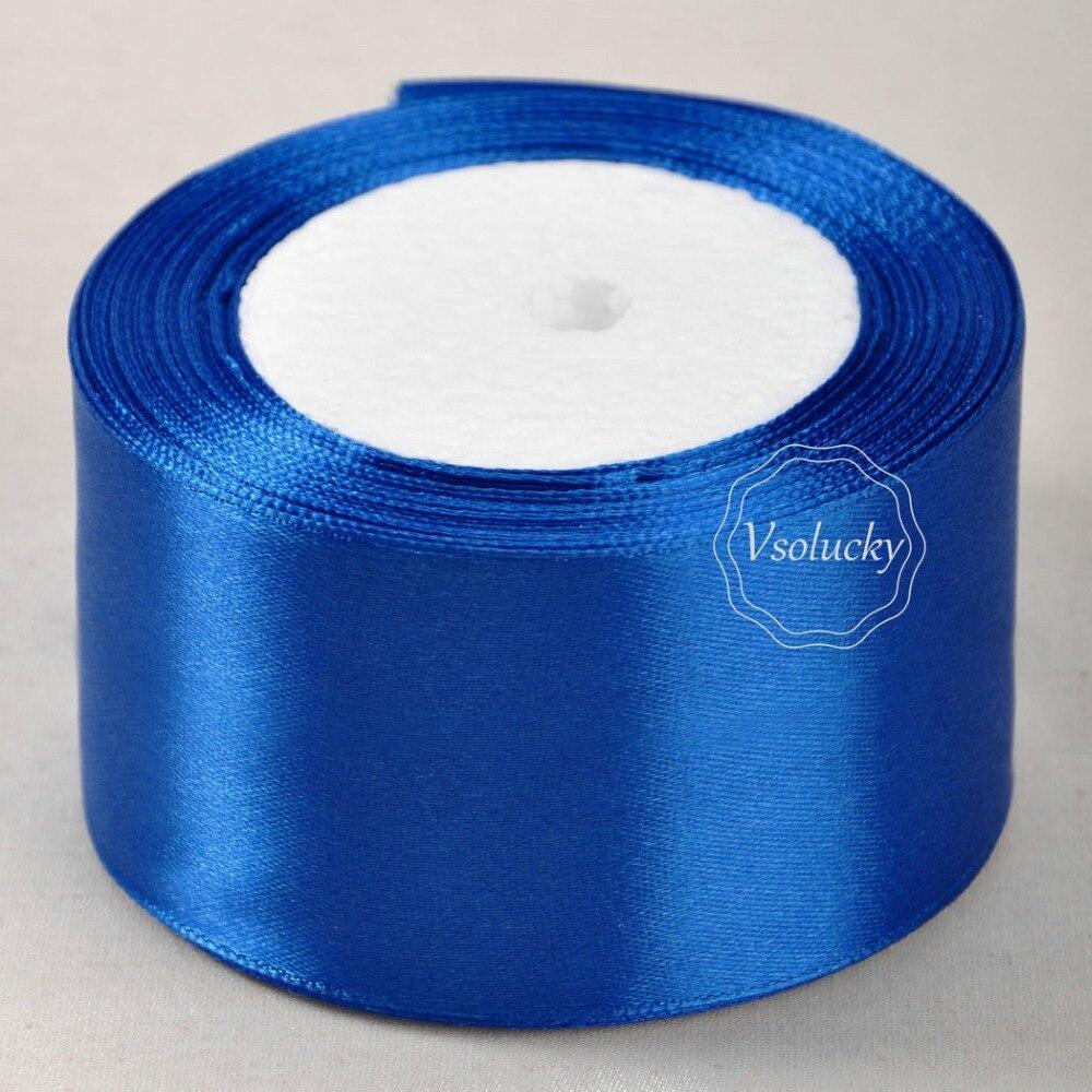 25 Yd Roll of  Royal  Blue Satin Edge Organza Ribbon 10mm 25mm and 38mm 15mm