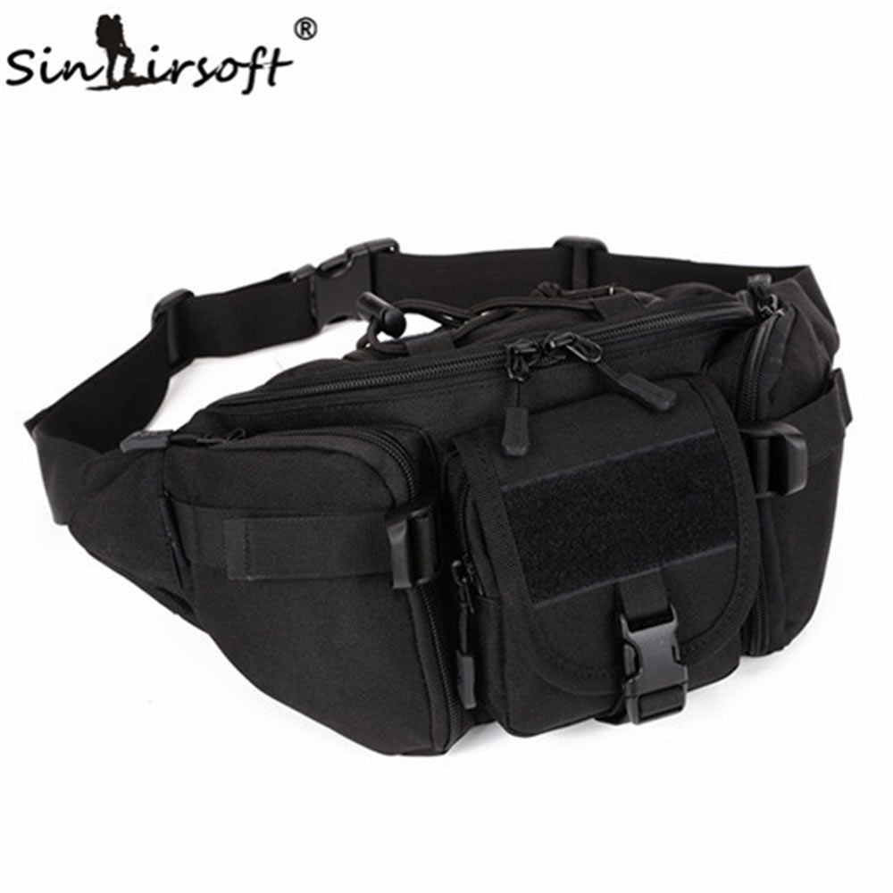 SINAIRSOFT New Hip Packs Outdoor Pack Waterproof Bag Tactical Molle System Pouch Belt Bag Outdoor Sports Bags Military Equipment