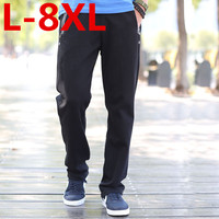 2017 Plus Size 8XL 7XL 6XL 5XL Casual Pants Male Trousers Straight Spring And Summer Health