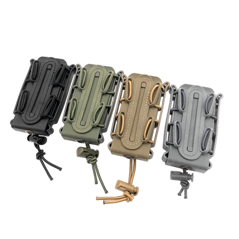 Molle Tactical Single Rifle Mag Pouch Open Top Bag For 9mm Cartridge Holder Magazine Pouch Outdoor 9mm Bullet Rifle Pocket