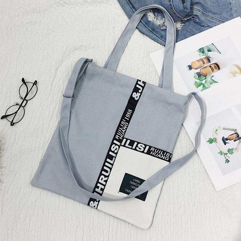 Women Canvas Shopping Handbag Travel Shoulder Bags Tote Large Capacity J