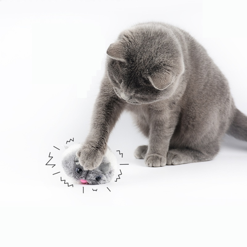 Cat Toys Pulling Chain Shock Shake Interactive Pet Cat Toys Rat Artificial fur 1 pc