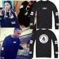 Factory price street fashion HBA sweatshirts punk rock hiphop pullover HOOD BY AIR RADIOACTIVE CLASSICS O-Neck hoodies
