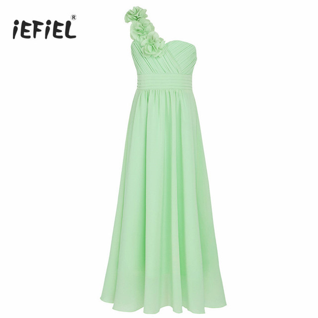 a038e7bb00ef iEFiEL Floral Girl Dress Ball Gown Prom Formal Maxi Dress 4 14Y Kids ...