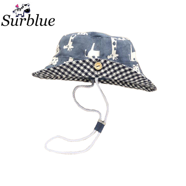 f126f2a3 Surblue 2017 Children Sun Hat Cap Child Photography Prop Spring Summer  Outdoor Wide Brim Kids Baby Girl Boy Hat Beach Bucket Hat