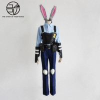 Rabbit Officer Cosplay Costumes Full Set Tops Vests Pants Belts Cuffs Waist Pack Leggings Ear Tail