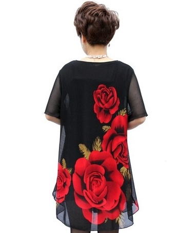 2a69b06e4f06d Summer dress middle aged women and clothes 40 to 50 years old fat mother  temperament of women's summer wear chiffon big yards-in Dresses from Women's  ...