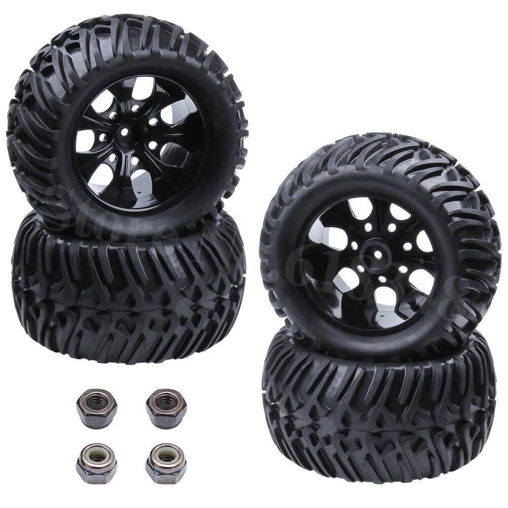 4 stks 125mm Rubber RC Monster Banden & Wielen Bigfoot Tyre Hex 12mm - Radiografisch bestuurbaar speelgoed