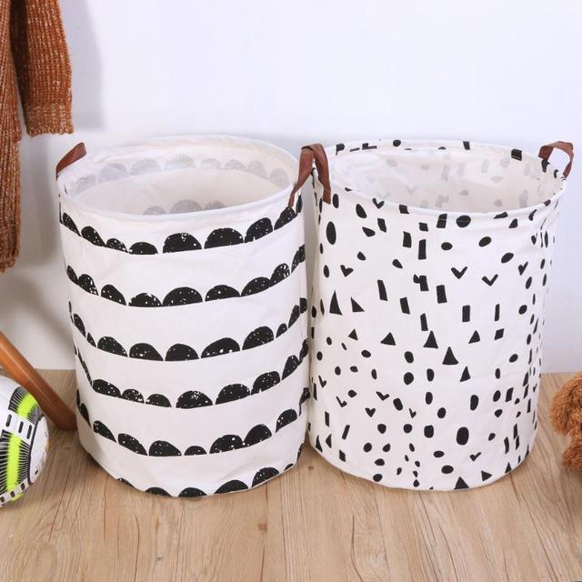 Foldable Laundry Storage Basket Clothes Bag Dirty Kids Toys Organizer Home Sundries Barrel