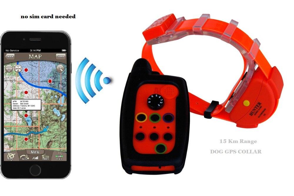 WATERPROOF <font><b>DOG</b></font> GPS <font><b>TRACKER</b></font> COLLAR WITH OUT SIM CARD