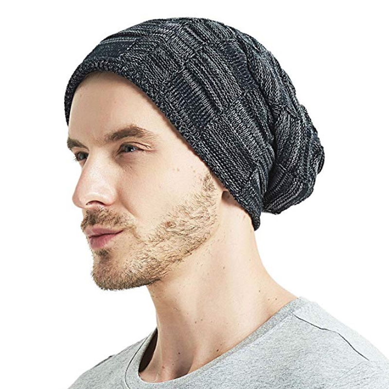 Winter Knitted Outdoor Men   Beanie   Winter Hat Men Warm Male Caps Women Cotton   Skullies     Beanies   bonnet Female Thick Stocking Hats