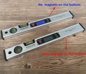 Image 2 - Digitale Gradenboog Hoekzoeker Inclinometer Elektronische Level 360 Graden Met/Zonder Magneten Niveau Hoek Helling Test Liniaal 400 Mm