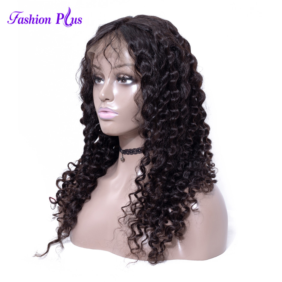 Pre Plucked Full Lace Human Hair Wigs With Baby Hair 150% Glueless Remy Brazilian Hair Deep Weave Full Lace Wig For Women