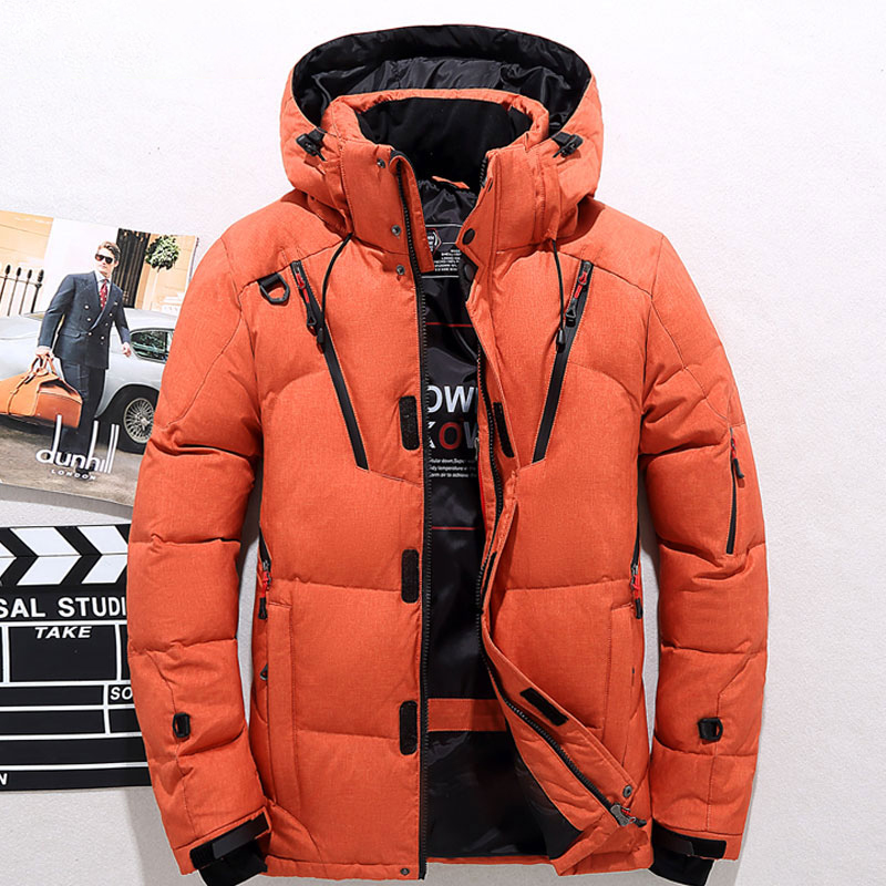 2019 New Winter Thick Warm Men's Solid Color Waterproof   Down     Coats   High Quality 90% White Duck Thick   Down   Jackets