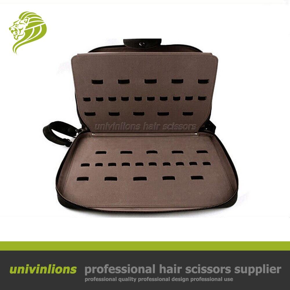 Univinlions 40 60pcs hairdressing barber bag leather holder hair clipper case hairdressing scissor pouch leather scissor