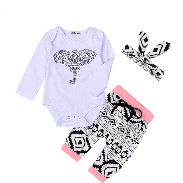 2018 NEW Baby Girl Clothes Sets Baby Infant Spring Outfits Suits 3Pcs Girl Clothes Cotton Newborn Clothing Sets Baby clothes