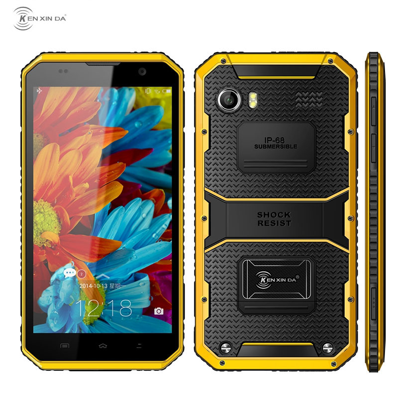 Ken xin da proofing w9 smartphone rom 16 gb + ram 2 gb IP68 Waterdicht Schokbestendig 6.0 ''Android 5.1 MTK6753 Octa Core LTE 4G