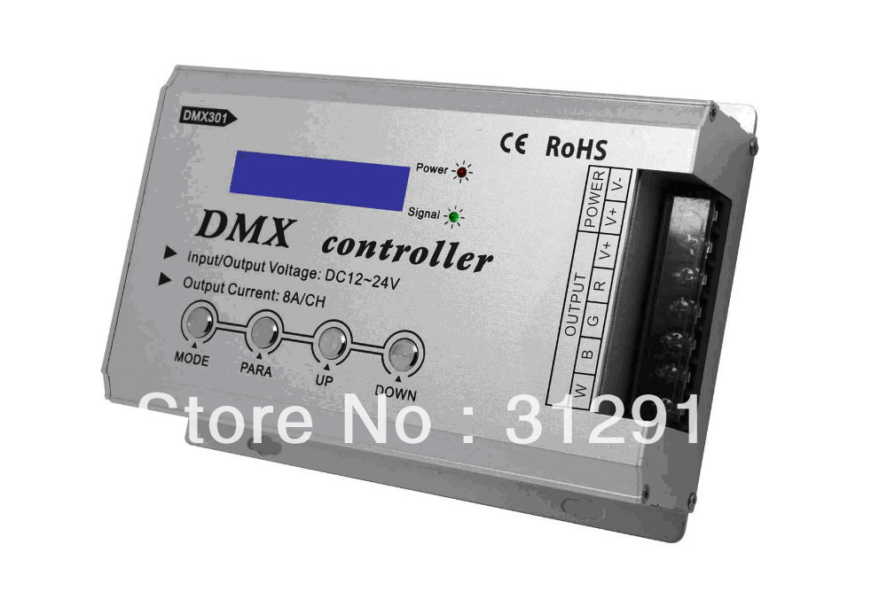 DMX constant voltage decoder with LCD display;DC12-24V input;8A*3channel PWM output dynacord dynacord d 8a