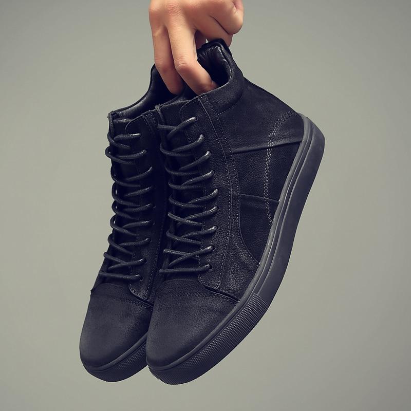 CLAX Mens รองเท้าหนังของแท้หนังฤดูใบไม้ร่วงแฟชั่นรองเท้าข้อเท้า Boot chaussure homme plus ขนาด-ใน รองเท้าบูทแบบเบสิก จาก รองเท้า บน   3