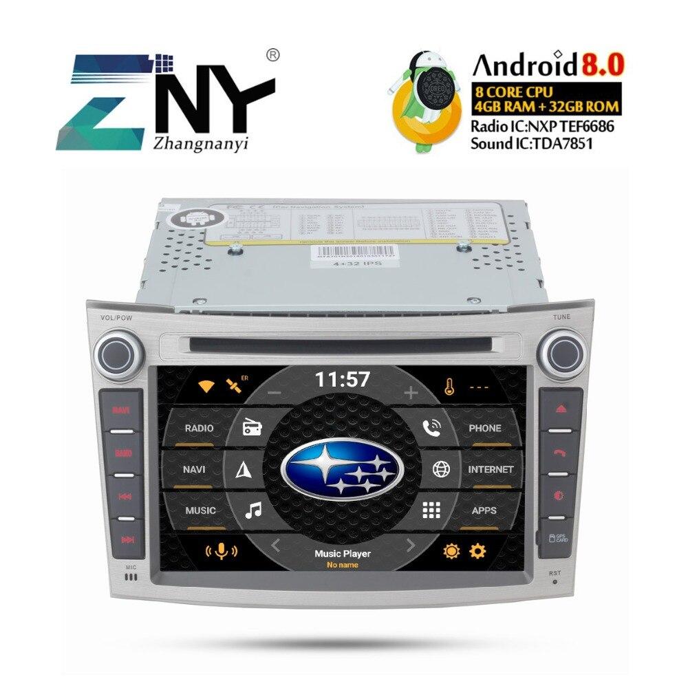 7 IPS Dans Dash 2 Din Android 8.0 dvd de voiture Pour Subaru Legacy Outback 2009 2010 2011 2012 2013 2014 radio FM GPS Navi caméra de recul