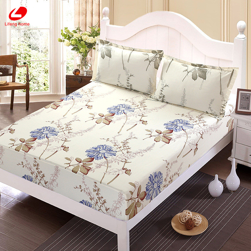 Home textile bed sheet sheet flower mattress cover printing bed sheet elastic rubber bedclothes 180*200cm summer bedspread band 40