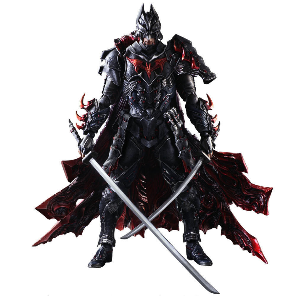 Huong Movie Figure 27 CM Play Arts Kai Justice League Batman Knight Bushido PVC Action Figure Collection Model Doll Toy gogues gallery two face batman figure batman play arts kai play art kai pvc action figure bat man bruce wayne 26cm doll toy