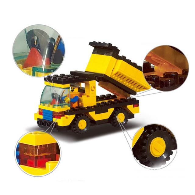 93pcs/set DIY Construction Vehicles Building Blocks Kits