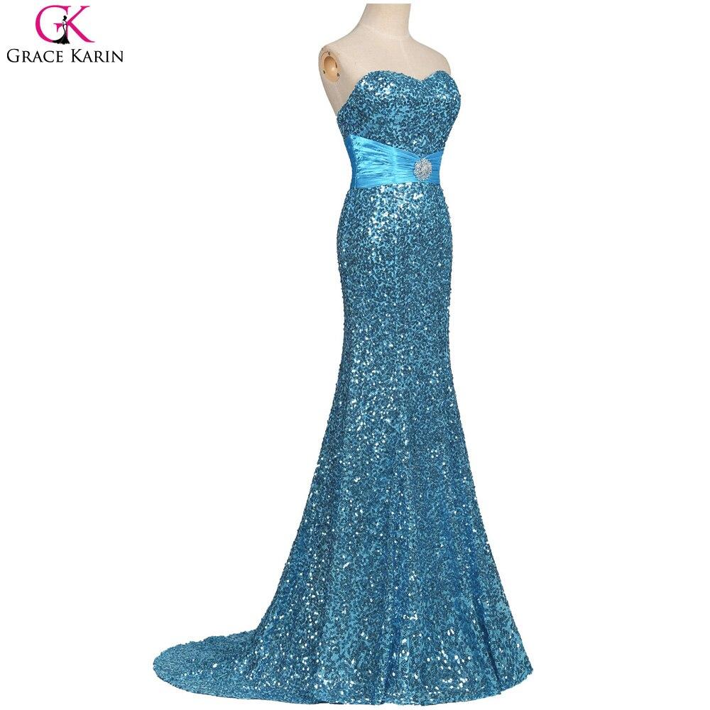 Aliexpress.com : Buy Grace Karin Mermaid Evening Dresses Sequin Long ...
