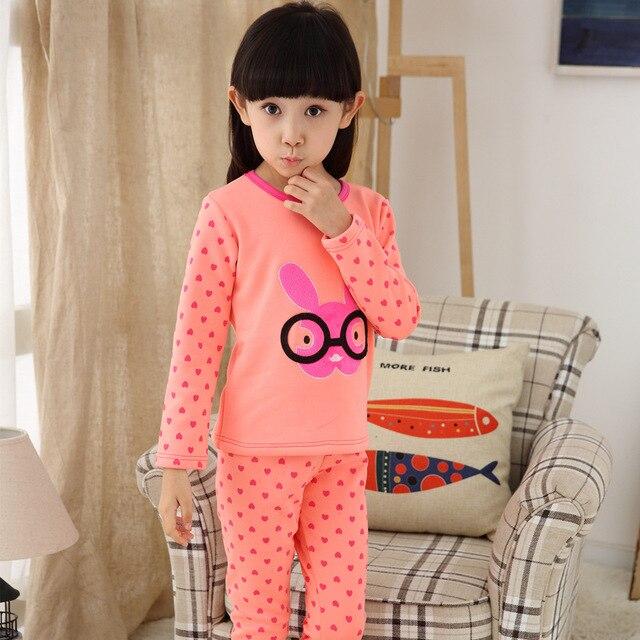 7ecc111cadf2 Girls  Fleece Lined Pajama Set Hello Kitty Clothing Sets Baby Girl ...