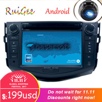 Android 7.1 car dvd player for Toyota RAV4 Rav 4 2007 2008 2009 2010 2011 in dash 2 din 1024*600 gps navigation wifi rds