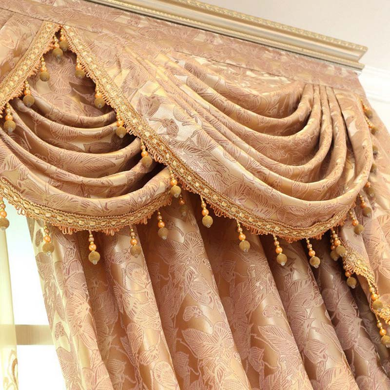 helen curtain pink gold brown embroidered curtains for