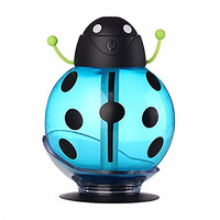 USB Air Freshener Beetle LED Air Diffuser Aroma Portable 360 Degree Rotation Creative Cartoon Beetle Ultrasonic