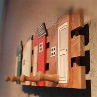 Hot Sale Storage Rack Prateleira House Hook Home Wooden Decorative Coat Hanger Wall Hanging Retro Originality Clothing