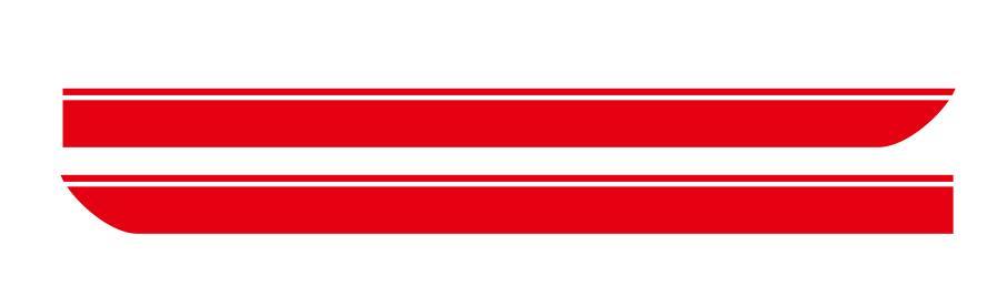 Для BMW MINI CooperS F55 F56 F54 R55 наклейки для боковой юбки автомобиля Аксессуары для кузова подходят на 3-5 дверей Спортивные полосы наклейки - Название цвета: Красный