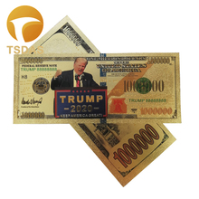New Products for 10pcs/lot America Banknotes Trump Banknote 1 Million Dollars Gold Banknote As Collection Gifts