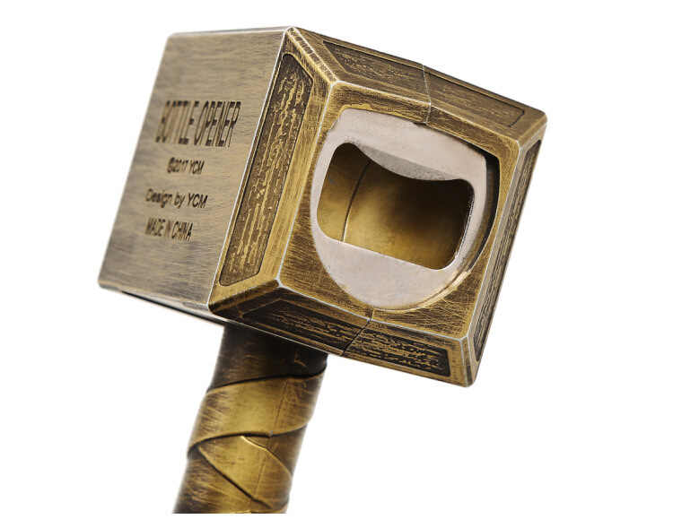Мстители 3 Марвел Тор молотковая Бутылка открывалка Mjolnir брелок игрушки серебро Металл Тор молоток Открытый брелок Спиннер