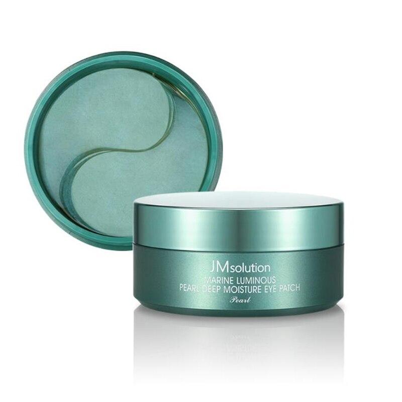 Korea Cosmetic JM Solution Marine Luminous Pearl Deep Moisture Eye Patch 60pcs Eye Mask Eyes Patches Dark Circles Face Care Mask