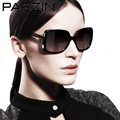Parzin Polarized  Sunglasses Women Vintage Oversized Female Sun Glasses  Brand Design Ladies Sun Glasses  With Box Black  9257