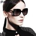 Parzin Polarized  Sunglasses Women Vintage Oversized Female Sun Glasses  Brand Design Ladies Sun Glasses  With Box Black  9257