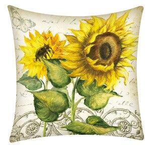 Image 4 - Print Pillowcase Polyester Sofa Car Cushion Cover Home Decor 45X45cm Throw Pillowcases Pillow Covers Home Decor Dropshipping