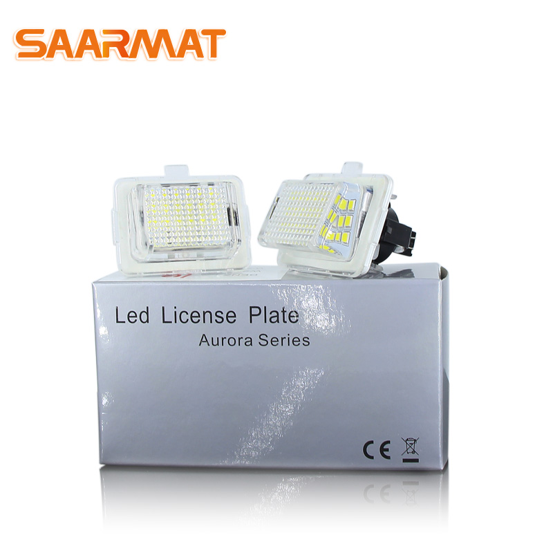 For Mercedes-Benz W204 W204 5D W212 W216 W221 LED CanBus No Error Number License Plate Lights Bulb White No Hyper Flash @12V
