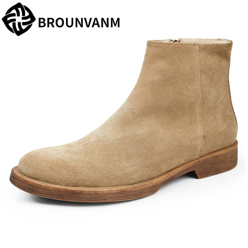 new autumn winter British style Martin male drop top boots leather retro Chelsea boots breathable fashion men casual shoes цены онлайн