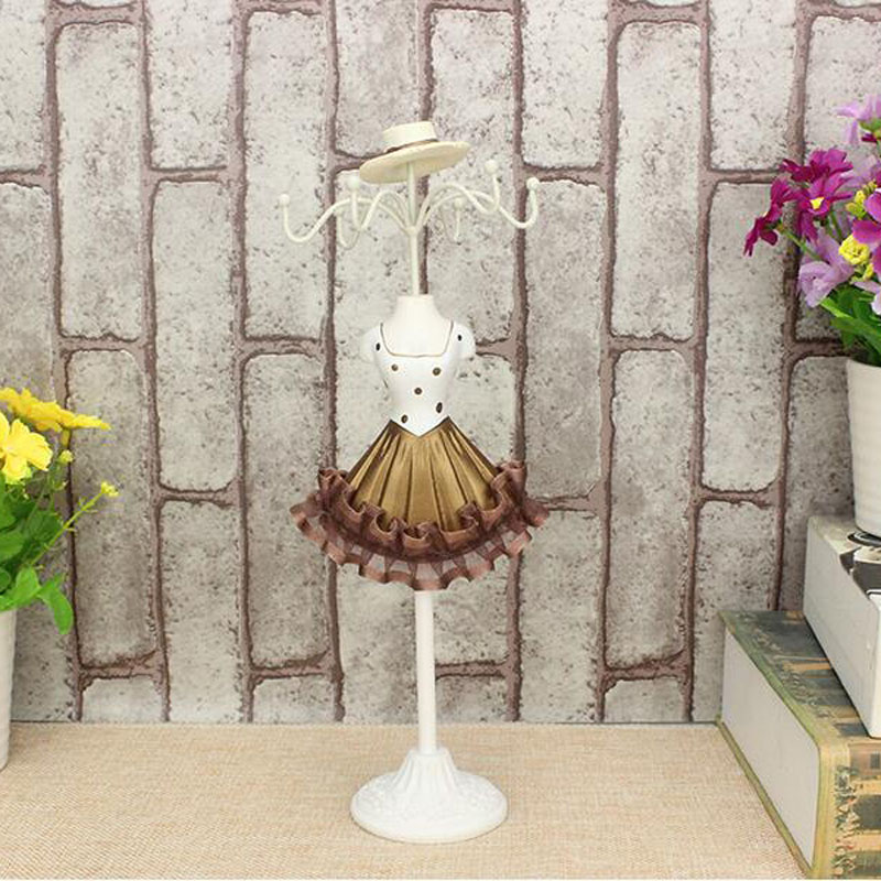 European ZAKKA Lace Gown Metal Display Jewelry Mannequins Stands Necklaces Showing Rack Earring Hanging Holder Bracelet Shelf