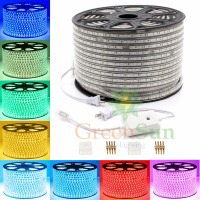 RGB Color LED Strip Rope Light 20 100M 60 LEDs/ Meter Ultra Bright 5050 SMD Strip Light Outdoor Garden Home Decor Waterproof